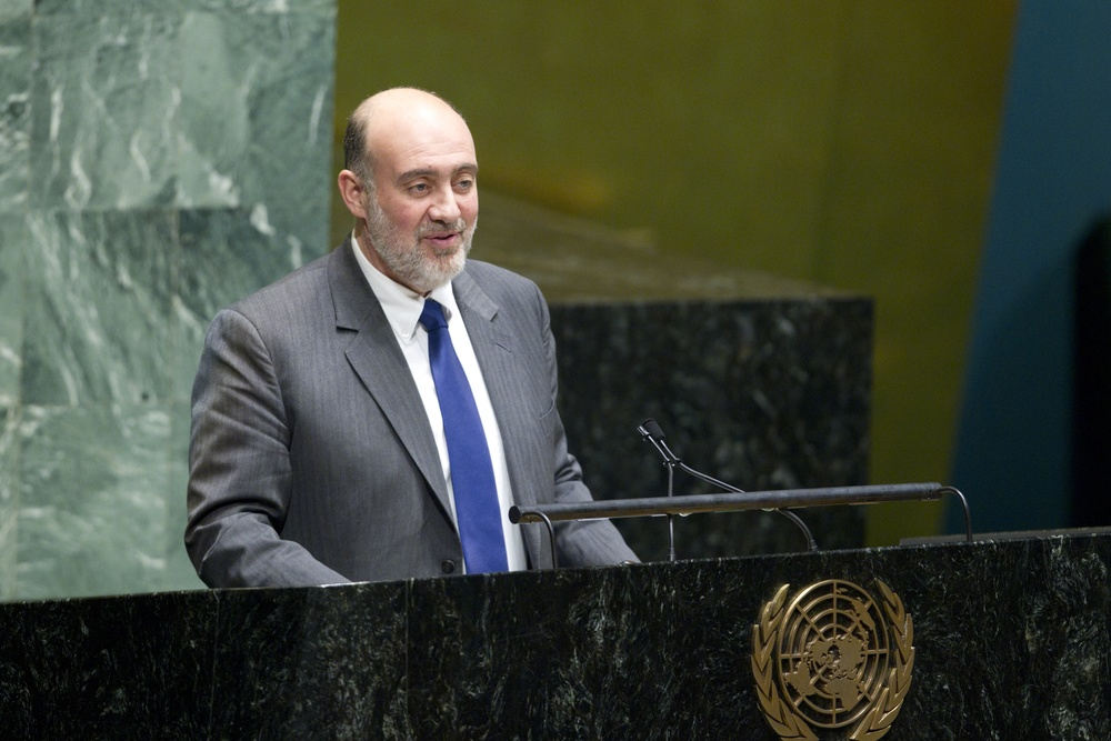 Ron Prosor, Permanent Representative of Israel to the United Nations, speaks at the UN's International Holocaust Remembrance Day observance on Jan. 25, 2013. Credit: UN Photo/Rick Bajornas.