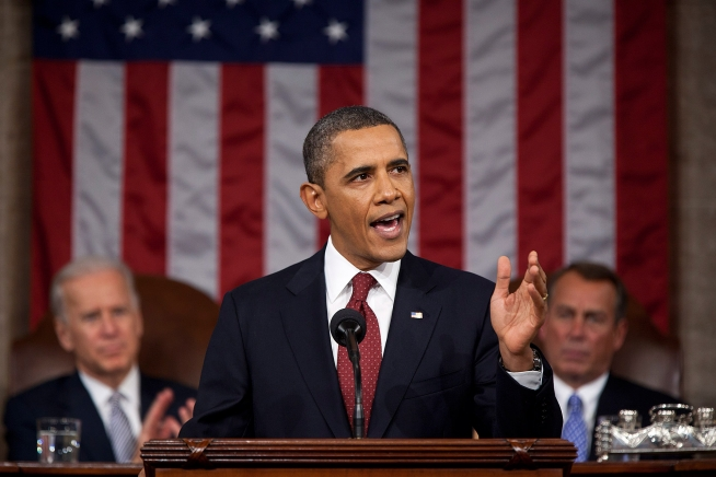 Click photo to download. Caption: President Barack Obama delivers the 2012 State of the Union address. Credit: Pete Souza/White House.
