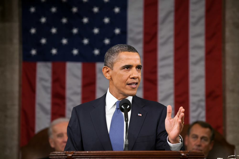 Click photo to download. Caption: President Barack Obama delivers the 2011 State of the Union address. Credit: Pete Souza/White House.