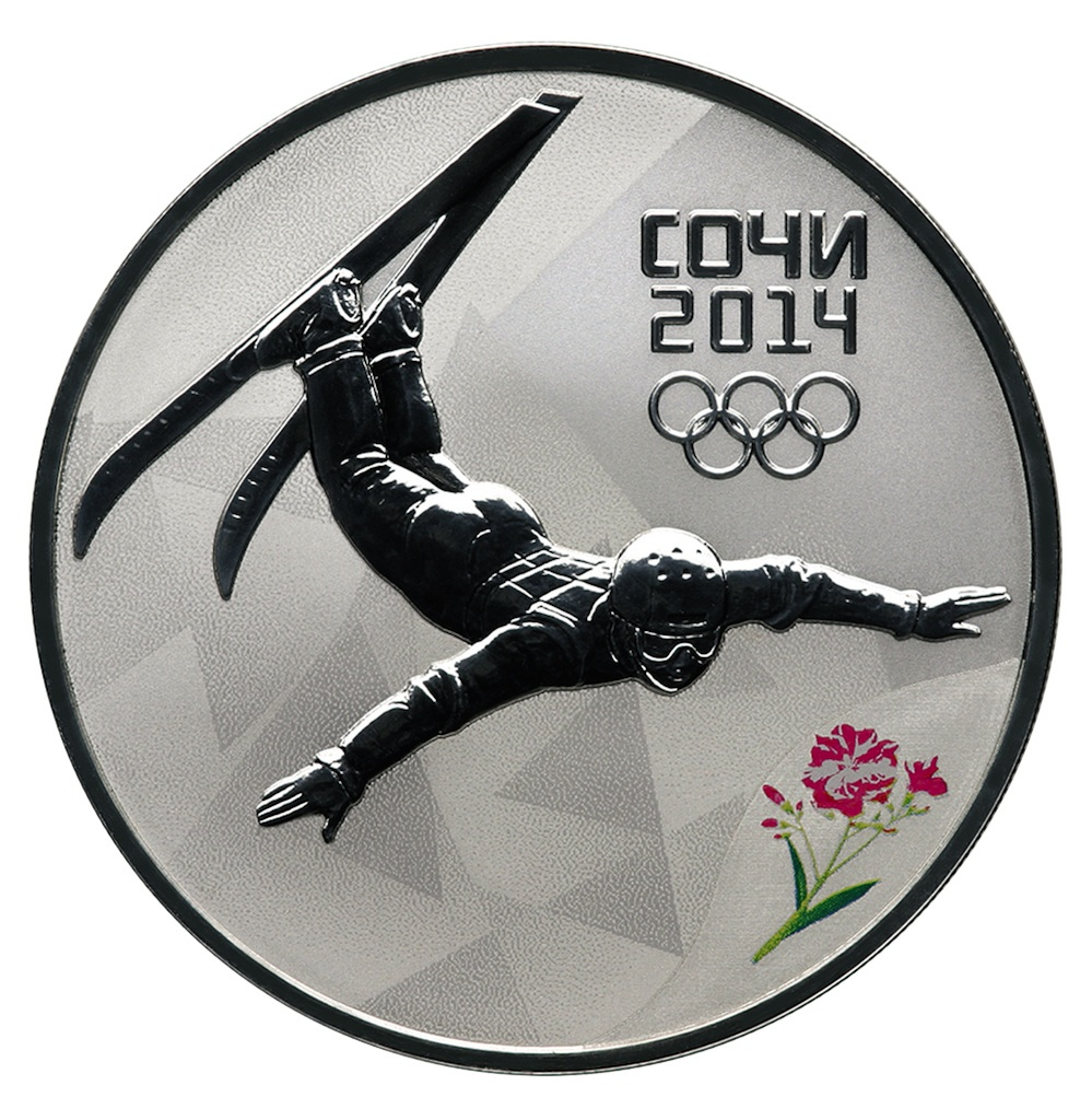 Click photo to download. Caption: A Russian coin customized for the 2014 Sochi Olympics. Credit: Sostav.ru via Wikimedia Commons.