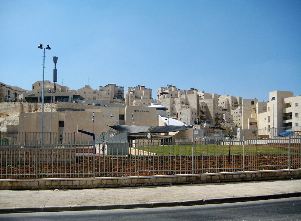 Jerusalem's Har Homa neighborhood, pictured, is part of the newly announced Israeli construction plans for 768 residential units. Credit: Avishai Ka via Wikimedia Commons.