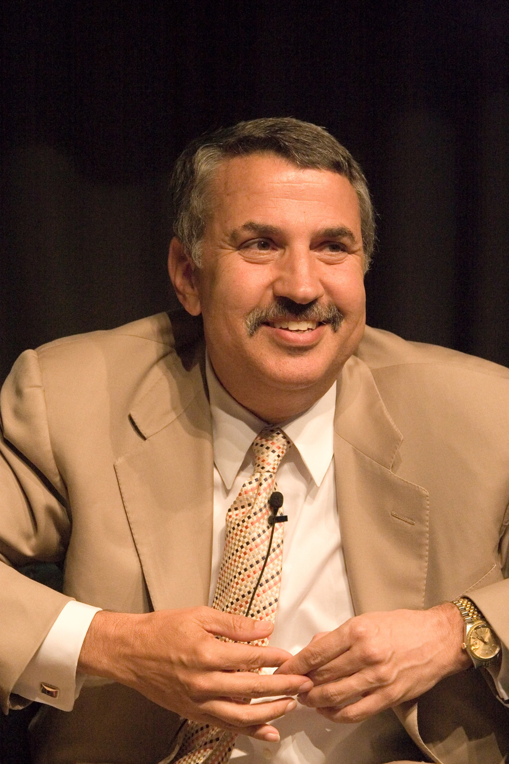"Click photo to download. Caption: Thomas Friedman, pictured, in his New York Times column described the boycott Israel movement as a ""Third Intifada."" Credit: Charles Haynes via Wikimedia Commons."