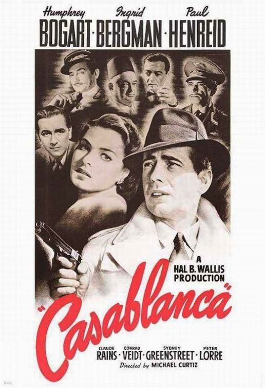 "Click photo to download. Caption: The original theatrical release poster for ""Casablanca"" (1942). Credit: Bill Gold/Warner Bros. via Wikimedia Commons."