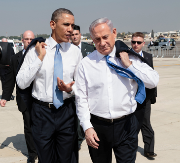 President Barack Obama and Prime Minister Netanyahu in Israel on March 20, 2013. Credit: Pete Souza/White House.