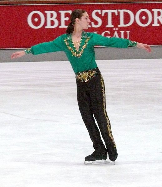 Jewish-American figure skater Jason Brown won a bronze medal in the Sochi 2014 Olympic games Sunday. Credit: Wikimedia Commons.