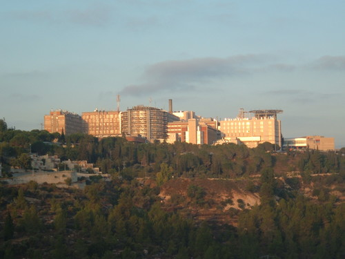 A view of Hadassah Medical Center in Ein Kerem, Jerusalem. Credit: Almog via Wikimedia Commons.