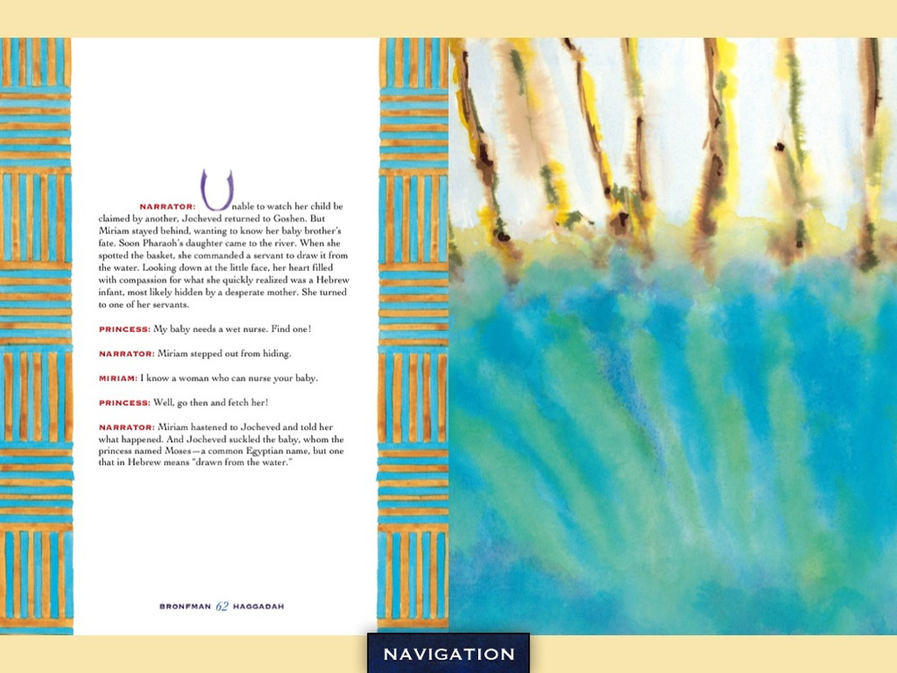Bronfman haggadah enters the digital world in time for for Aronson and associates