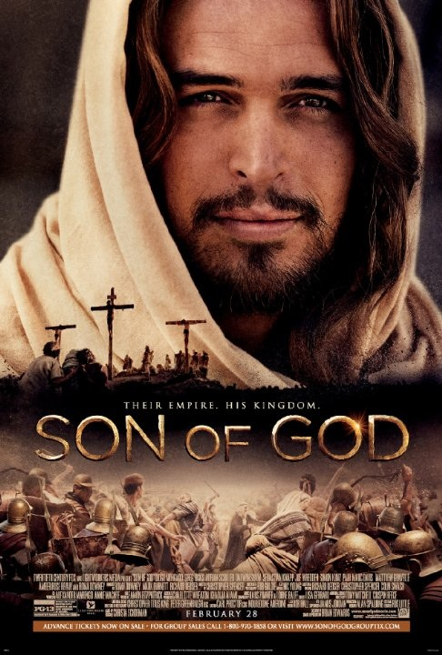 "Click photo to download. Caption: The movie poster for ""Son of God,"" scheduled to be released in February as just one of the biblically inspired films of 2014. Credit: Son of God."