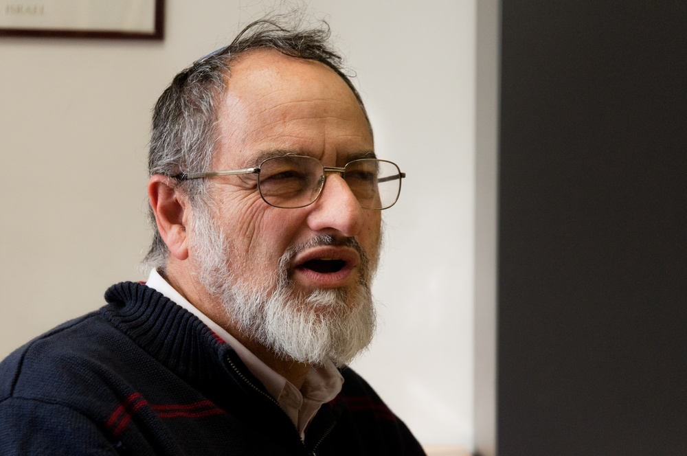 "Click photo to download. Caption: Noam Zion (pictured), research fellow at the Shalom Hartman Institute and coauthor of two Passover haggadot, says it is ""almost a 'mission impossible'"" to balance all the elements that are necessary to lead a Passover seder. Credit: Shalom Hartman Institute."