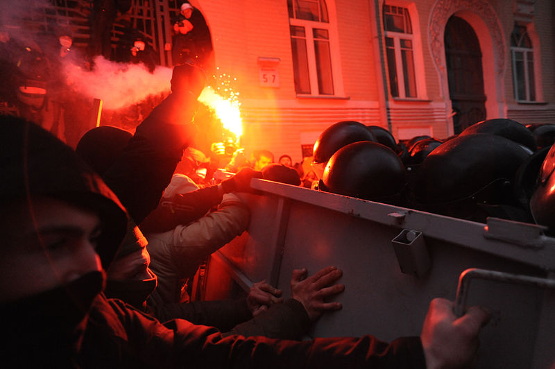 About 25 people have been reported killed in Ukraine protest clashes Wednesday. Credit: Wikimedia Commons.