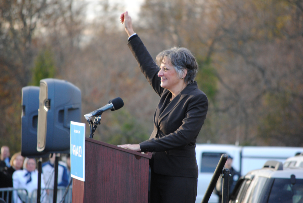 Click photo to download. Caption: In Pennsylvania, Democratic gubernatorial candidate Congresswoman Allyson Schwartz (pictured), a member of the greater Philadelphia Jewish community, has made repealing the state's Sunday hunting ban a platform issue in her bid to unseat Republican incumbent Tom Corbett. Credit: Courtesy of the Philadelphia Jewish Exponent.