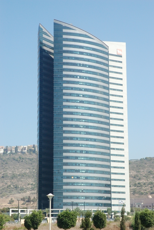 The Israel Electric Company building in Haifa. Credit: David King via Wikimedia Commons.