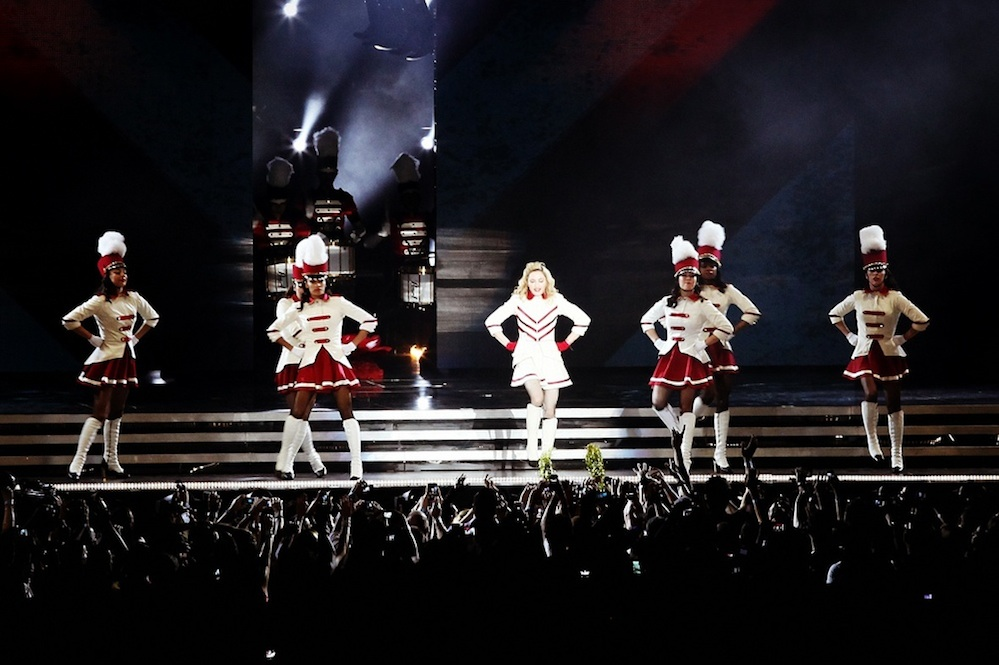 Click photo to download. Caption: Madonna—pictured here performing in Tel Aviv on May 31, 2012—is among the high-profile artists attracted to Israel to promoter Shuki Weiss. Credit: MDNA.