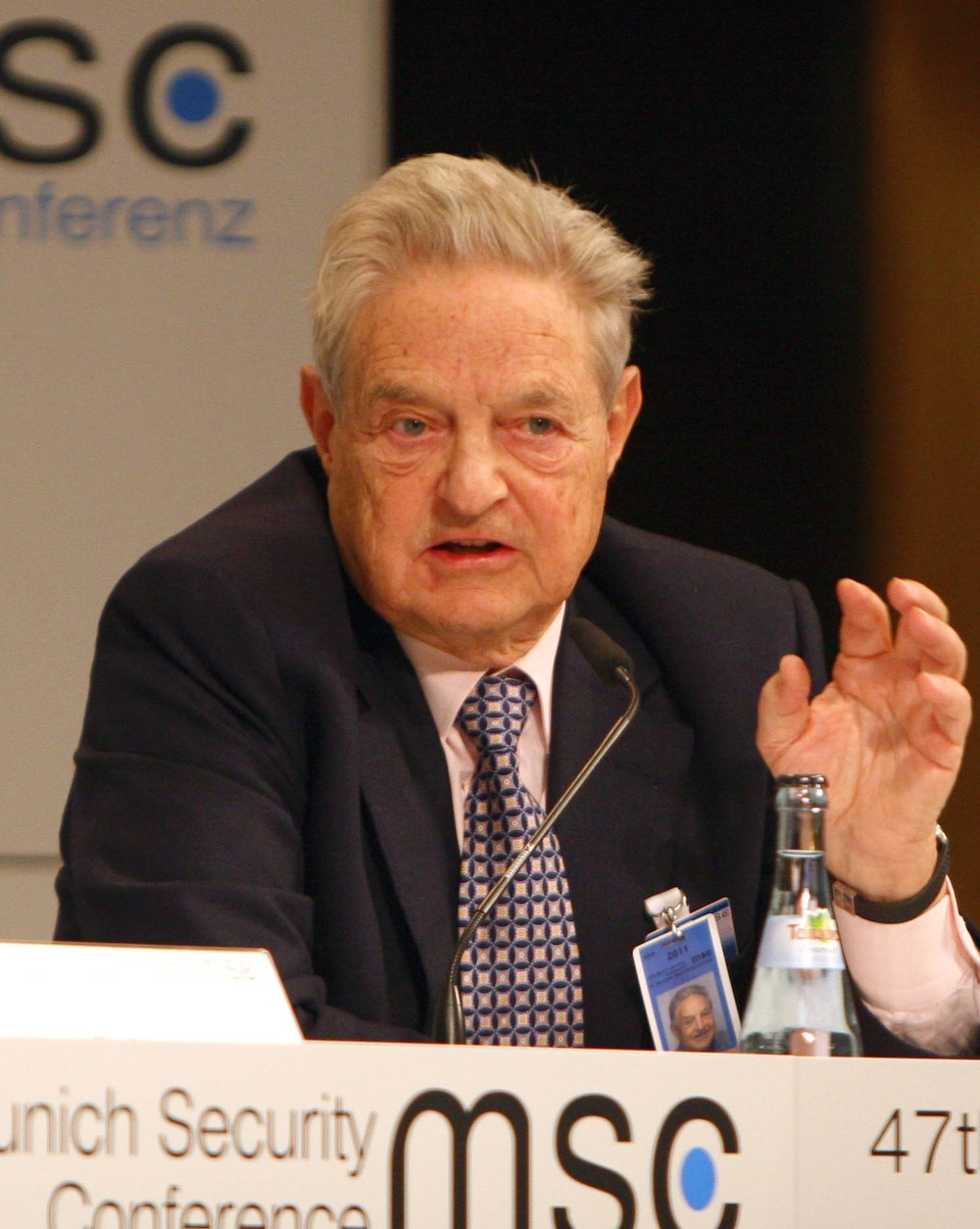 Click photo to download. Caption: George Soros at the 47th Munich Security Conference in 2011. Credit: Harald Dettenborn via Wikimedia Commons.