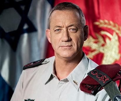 IDF chief Benny Gantz. Credit: IDF.