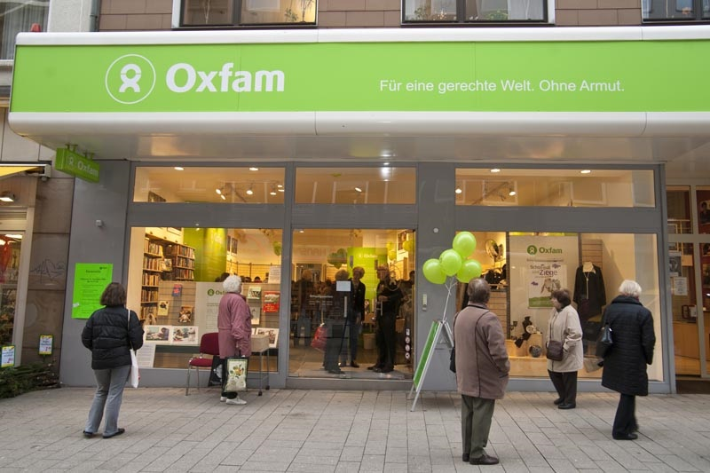 Click photo to download. Caption: An Oxfam International shop in Dortmund, Germany. Credit: Oxfam Deutschland.