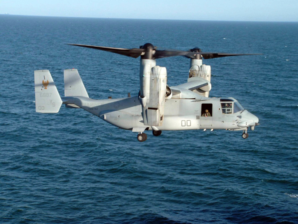 "The V-22 Osprey ""plane-copter."" Credit: U.S. Navy photo by Lt. j.g. Anthony Falvo."