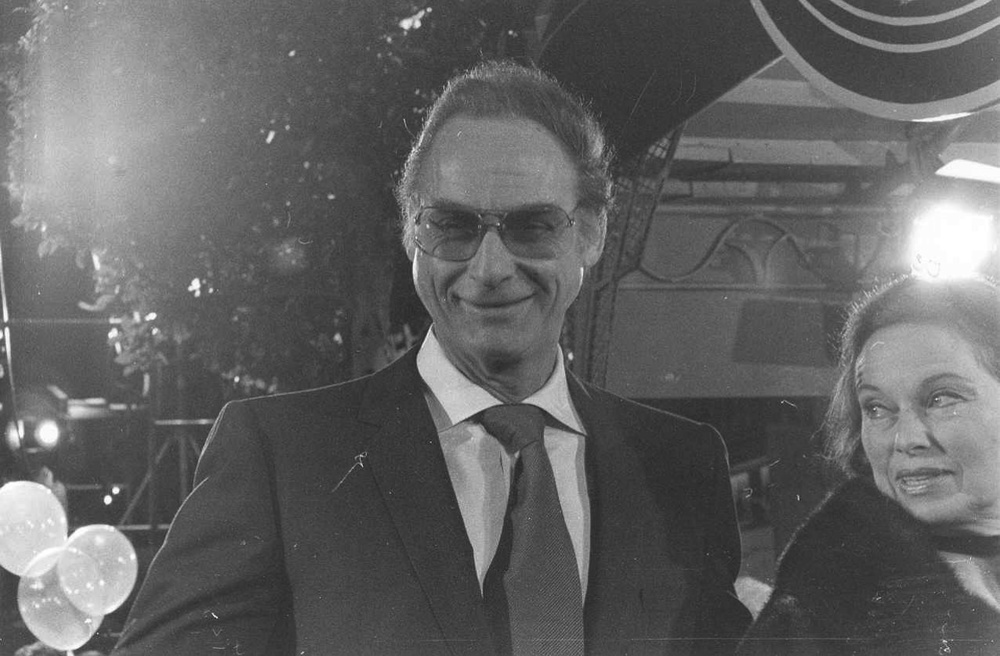 "Click photo to download. Caption: Sid Caesar at the premiere of the movie ""Seems Like Old Times"" in December 1980. Credit: Alan Light via Wikimedia Commons."