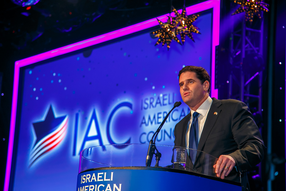 Israeli Ambassador to the U.S. Ron Dermer speaking at the Israeli American Council gala on March 9. Credit: Pal Photography.