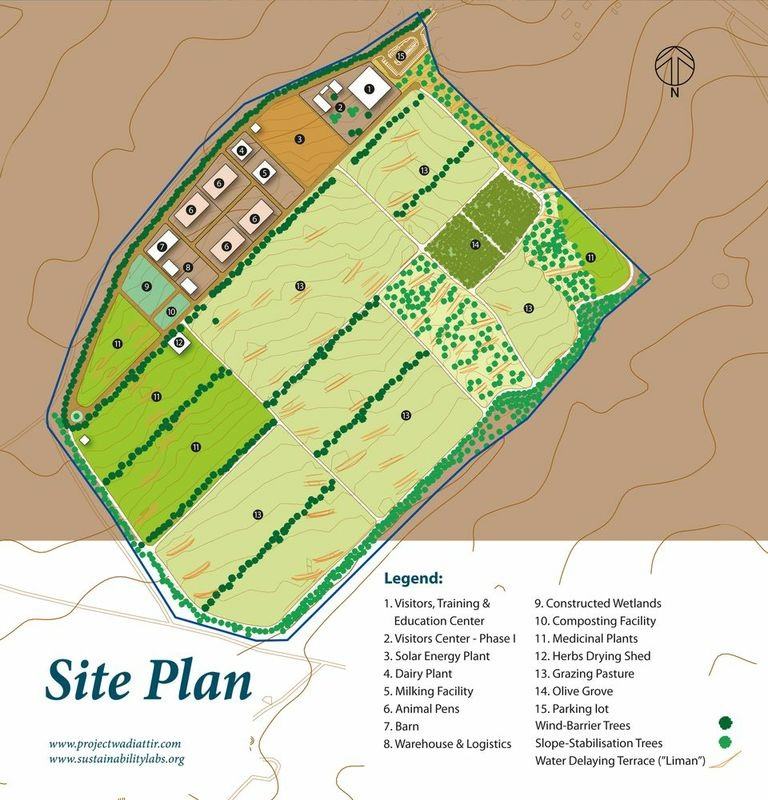 Click photo to download. Caption: The site plan of Project Wadi Attir. Credit: Courtesy Project Wadi Attir.