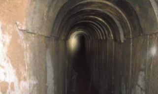 A tunnel uncovered by the IDF under the Gaza border. Credit: IDF Spokesperson's Unit.