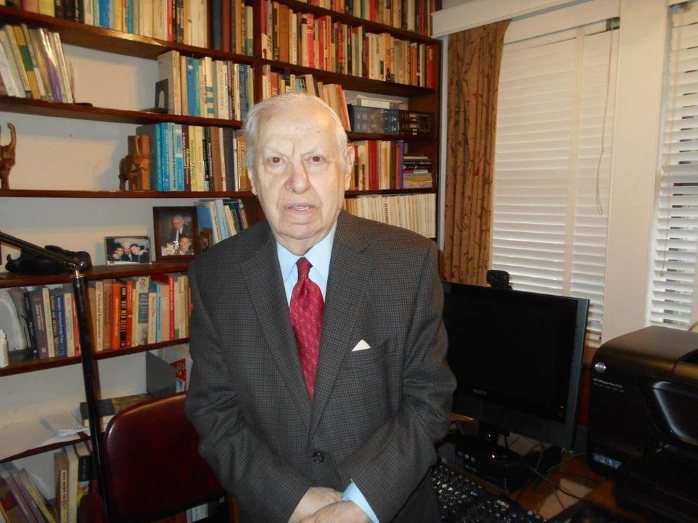 Click photo to download. Caption: Dr. Randolph L. Braham (pictured), a prominent Holocaust historian and a survivor from Hungary, chose to return an award—the Medium Cross of the Order of Merit of the Hungarian Republic—that he received from the Hungarian government in 2011, in a personal protest against the government's planned Holocaust memorial. Credit: Courtesy Dr. Randolph L. Braham.