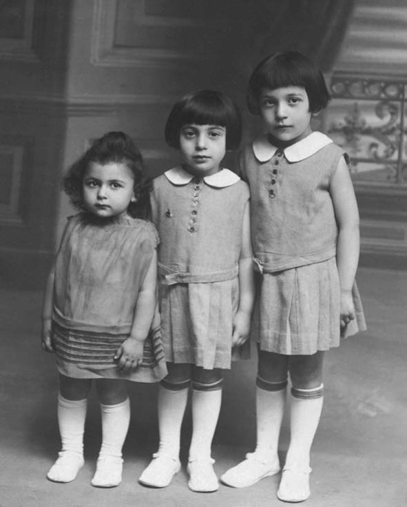 "Click photo to download. Caption: Ida Hoffmann (left), author of the Holocaust memoir ""Darkness Hides the Flowers,"" with her sisters Eugenie and Rosa. Credit: Courtesy Ida Hoffmann."