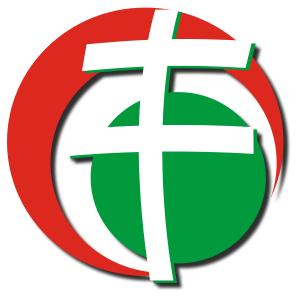 The logo of Hungary's far-right Jobbik party, whose leaders have often denigrated Jews and Israel in speeches. Credit: Wikimedia Commons.