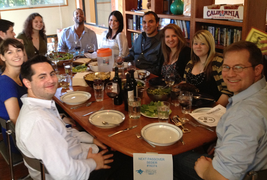 A NEXT Passover seder in Los Angeles. Credit: NEXT: A Division of Birthright Israel.
