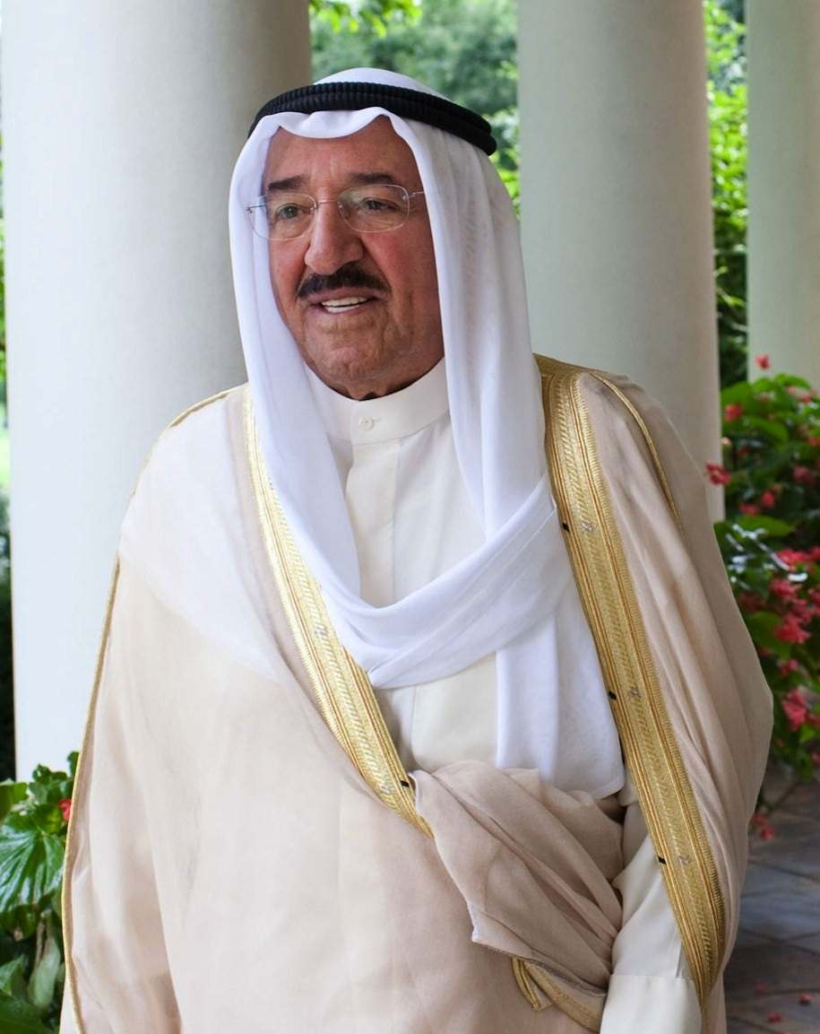 "Click photo to download. Caption: Kuwaiti Emir Sheikh Sabah al-Ahmed al-Sabah. When Bedoon leader Abdullah Atallah declared that the emir was to ""blame"" for the plight of his people, he was promptly arrested for the ""insult"" and now faces a five-year prison sentence. Credit: The White House."