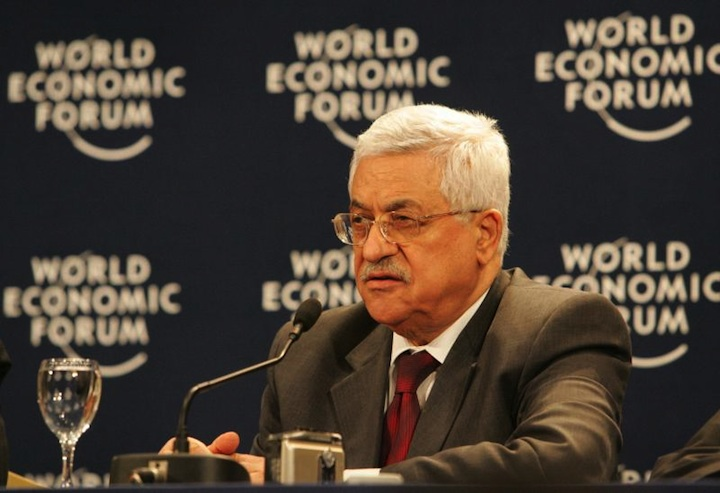 About 63 percent of Jewish Israelis oppose going ahead with the fourth stage of the Palestinian terrorist prisoner release in exchange for an agreement by Palestinian Authority President Mahmoud Abbas (pictured) to extend the current peace negotiations, a new poll found. Credit: World Economic Forum.