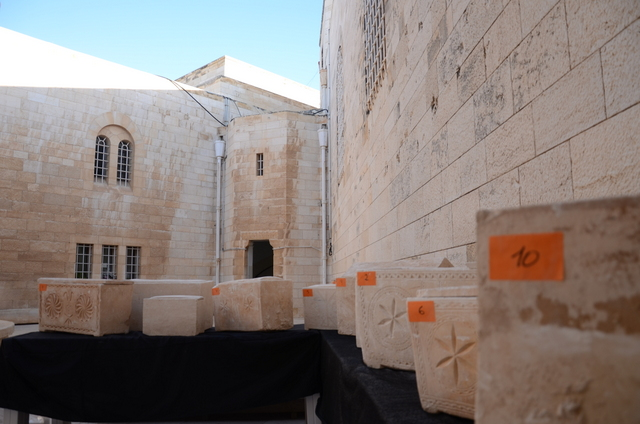 Ancient burial boxes were confiscated by Israeli police Friday from suspected thieves. Credit: Israel Antiquities Authority Unit for the Prevention of Antiquities Robbery.