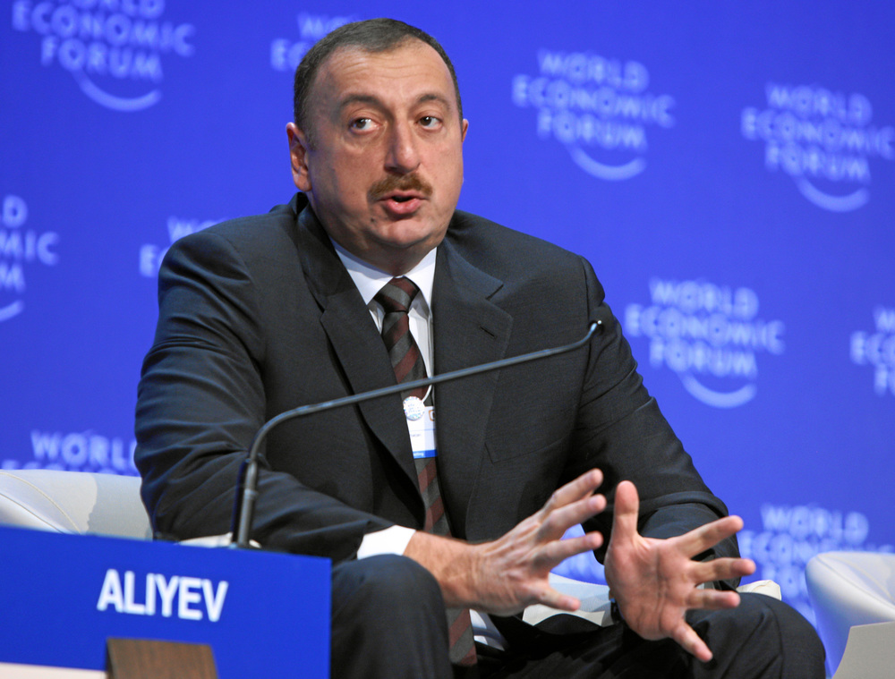 Click photo to download. Caption: Ilham Aliyev, president of Azerbaijan, at the January 2009 World Economic Forum in Davos, Switzerland. Azerbaijan has made a rare move among nations in the Arab world: befriending Israel. Credit: World Economic Forum.