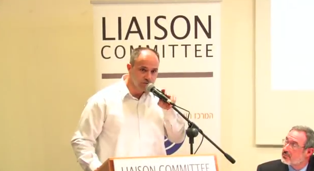 Shadi Khalloul, spokesman for the Israeli Christian Recruitment Forum. Credit: YouTube.