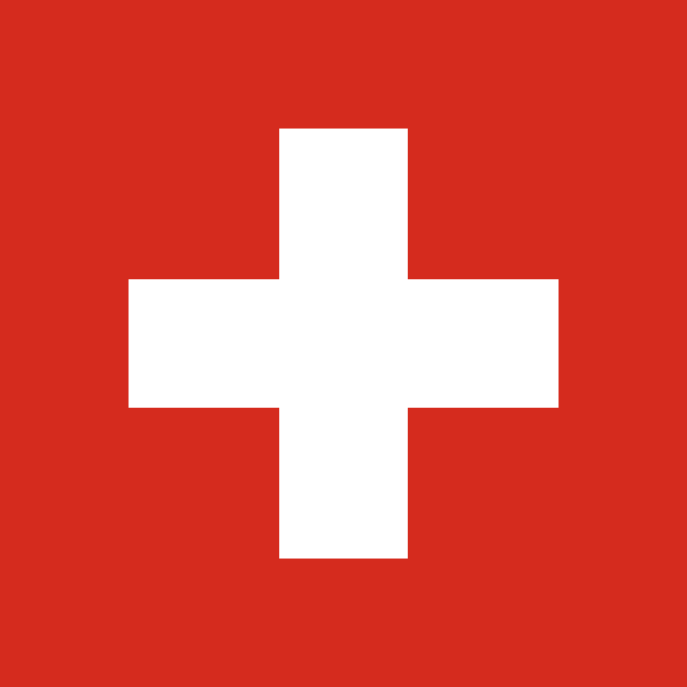 The Swiss flag. Credit: Wikimedia Commons.