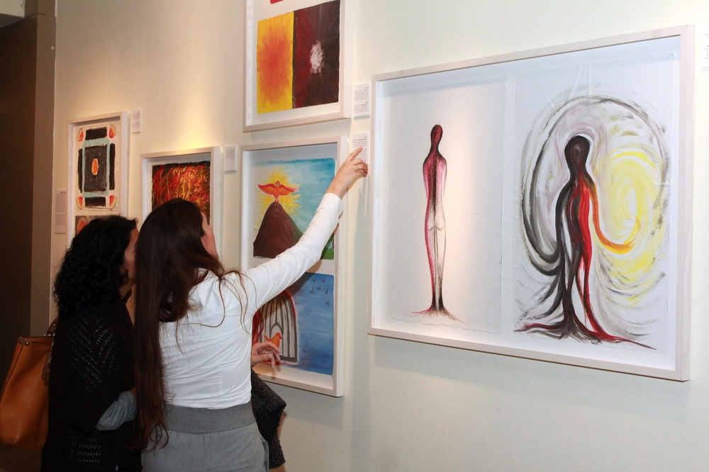 "Click photo to download. Caption: The ""Tears of Color"" exhibit at the ZOA House in Tel Aviv. Credit: Provided photo."