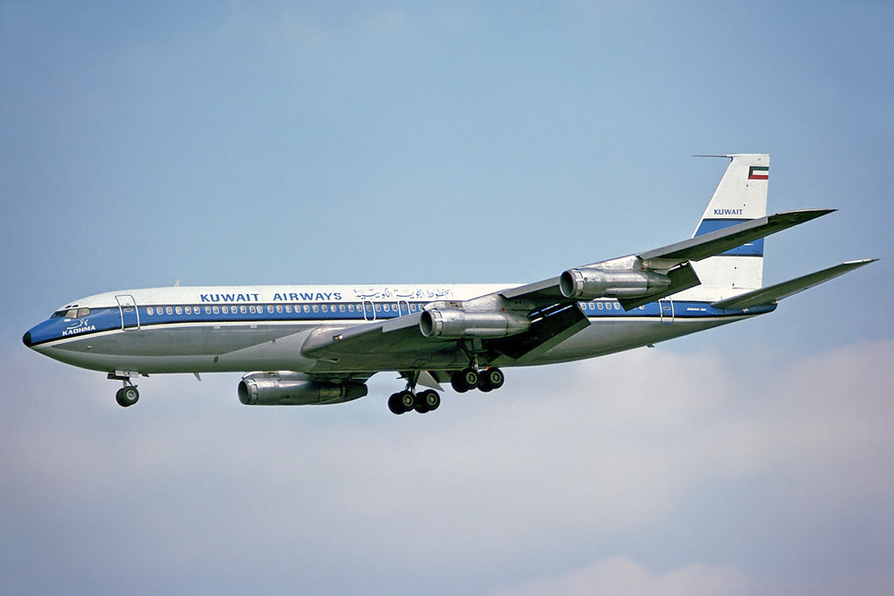 A Kuwait Airways plane. Credit: Steve Fitzgerald.