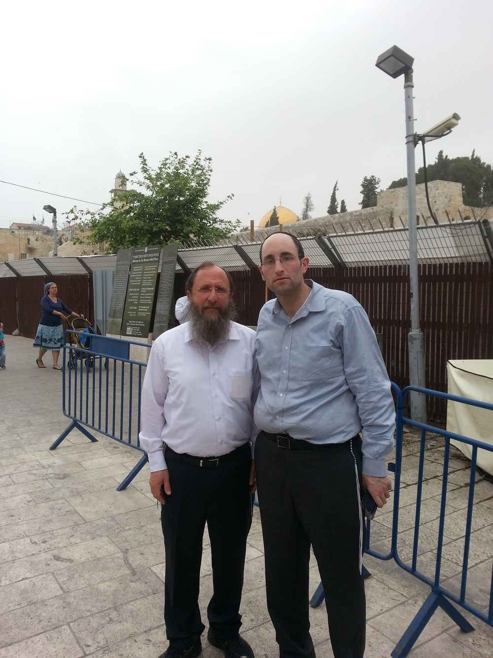 Temple Institute International Director Rabbi Chaim Richman (left) and Rabbi Meir Soloveichik visit the Temple Mount on Sunday. Credit: Temple Institute.