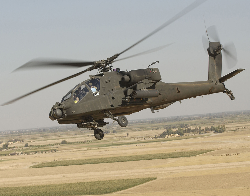 An AH-64 Apache from the U.S. Army's 101st Aviation Regiment. The United States is likely to resume limited military aid, including the release of Apache helicopters, to Egypt. Credit: Courtesy of U.S. Army, by Tech. Sgt. Andy Dunaway.