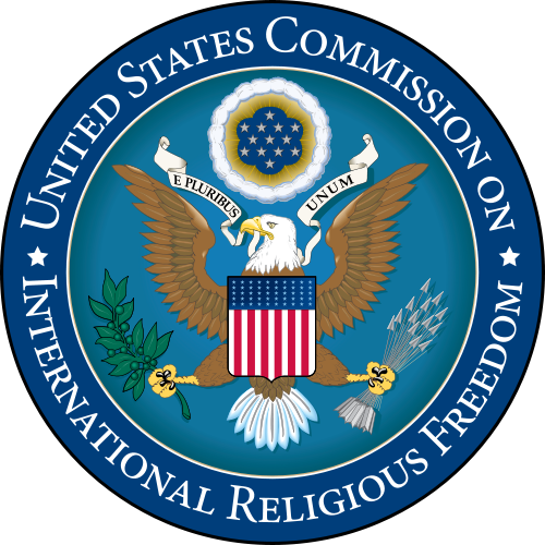 The logo of the U.S. Commission on International Religious Freedom. Credit: Wikimedia Commons.