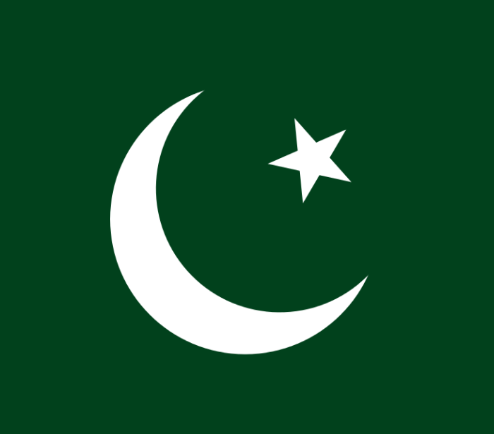 The flag of Pakistan. Credit: Wikimedia Commons.