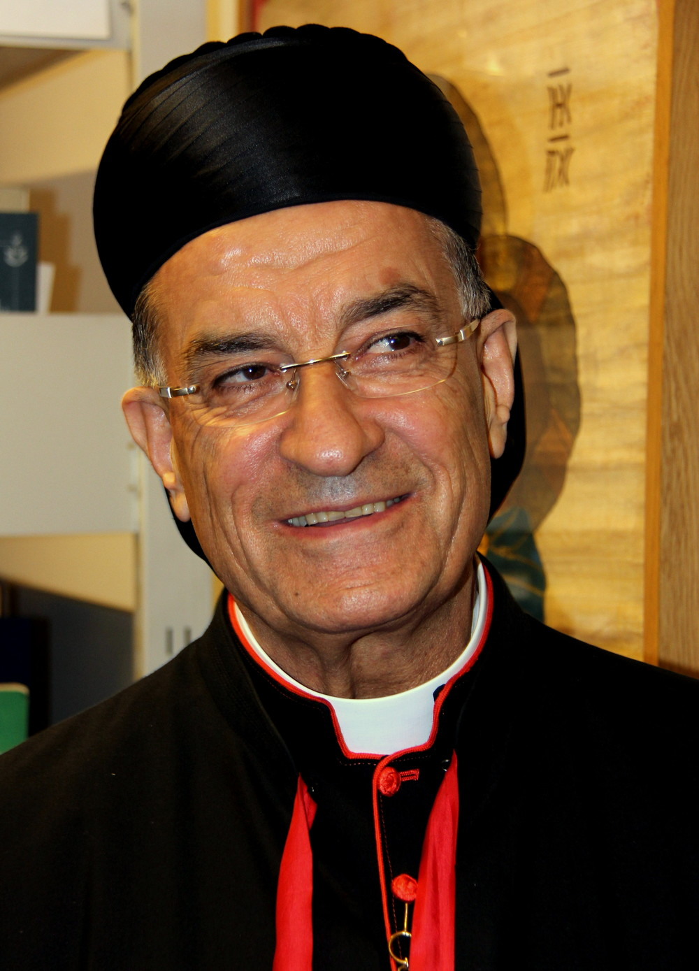 The head of the Lebanese Maronite Catholic Church, Bishop Beshara al-Rahi. Credit: Piotr Rymuza via Wikimedia Commons.