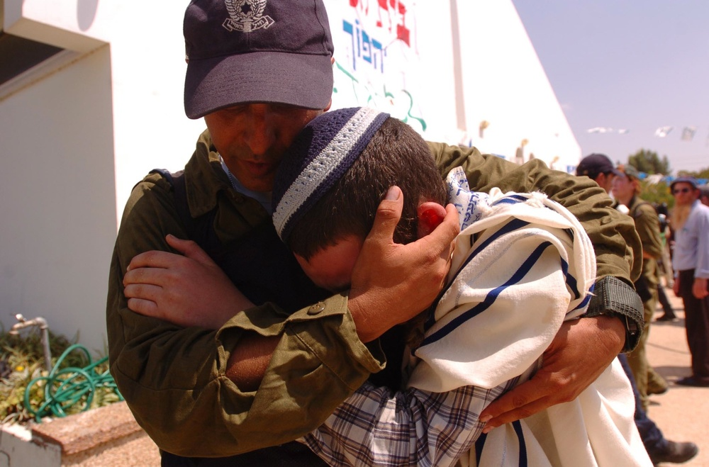 "Click photo to download. Caption: An Israeli soldier comforts a Jewish resident while evacuating the Israeli community of Morag during the August 2005 unilateral Israeli disengagement from Gaza.         0   0   1   45   236   JNS   3   1   280   14.0                       Normal   0           false   false   false     EN-US   JA   X-NONE                                                                                                                                                                                                                                                                                                                                                                            /* Style Definitions */ table.MsoNormalTable 	{mso-style-name:""Table Normal""; 	mso-tstyle-rowband-size:0; 	mso-tstyle-colband-size:0; 	mso-style-noshow:yes; 	mso-style-priority:99; 	mso-style-parent:""""; 	mso-padding-alt:0in 5.4pt 0in 5.4pt; 	mso-para-margin-top:0in; 	mso-para-margin-right:0in; 	mso-para-margin-bottom:10.0pt; 	mso-para-margin-left:0in; 	line-height:115%; 	mso-pagination:widow-orphan; 	font-size:11.0pt; 	font-family:Calibri; 	mso-ascii-font-family:Calibri; 	mso-ascii-theme-font:minor-latin; 	mso-hansi-font-family:Calibri; 	mso-hansi-theme-font:minor-latin;}      Unilateralism has been a taboo subject in Israel since the perceived failure of the Gaza disengagement due to the rise of the terrorist group Hamas there, but a growing number of respected Israeli leaders are proposing unilateral moves in the wake of the recent Palestinian unity pact between Fatah and Hamas. Credit: Israel Defense Forces."