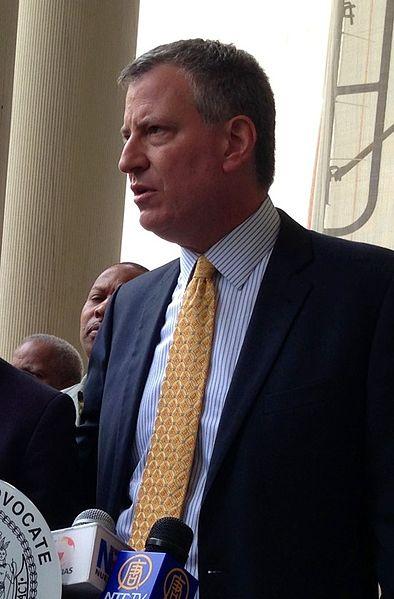 New York City Mayor Bill de Blasio. Credit: Wikimedia Commons.