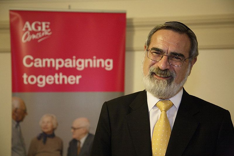 Rabbi Lord Jonathan Sacks, the recently retired Chief Rabbi of the United Hebrew Congregations of the Commonwealth in the United Kingdom. Credit: Wikimedia Commons.