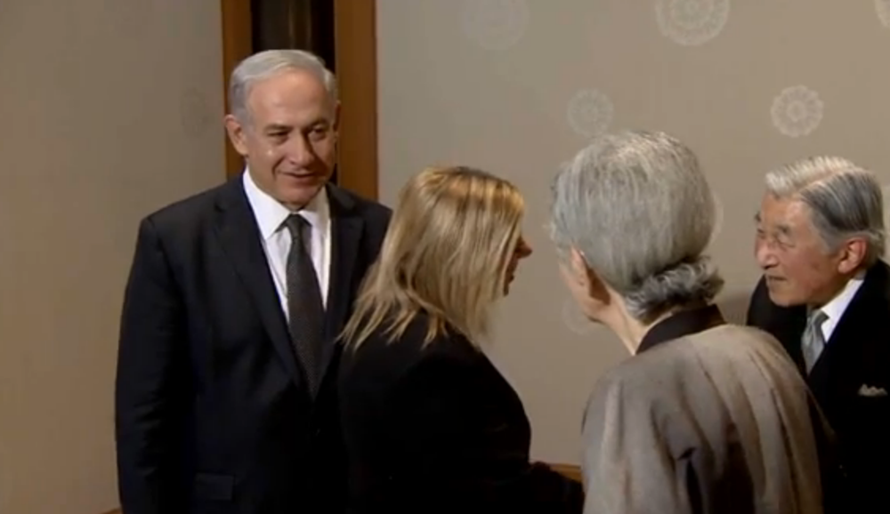 Prime Minister Benjamin Netanyahu and his wife Sara meet with Japanese leaders in Tokyo. Credit: GPO.