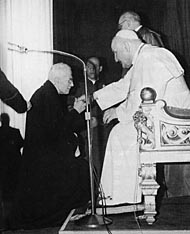 Recently canonized former Pope John XIII helped Jews escape during the Holocaust. Credit: Wikimedia Commons.