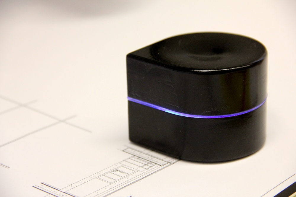 "Click photo to download. Caption: The the ""Mini Mobile Robotic Printer"" invented by Tuvia Elbaum and Matan Caspi. Credit: ZUtA Labs Ltd."