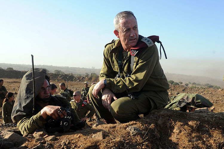 IDF Chief of Staff Benny Gantz. Credit: Cpl. Shay Wagner, IDF Spokesperson's Unit.