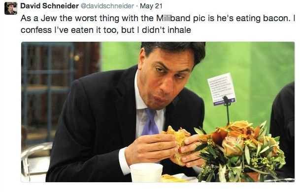 Credit: screenshot of David Schneider's tweet about Edward Milliband.